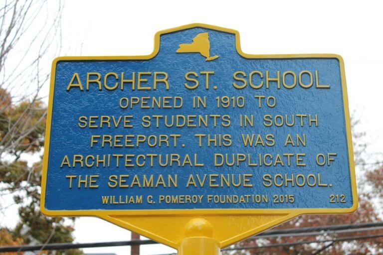 Archer Street School marker