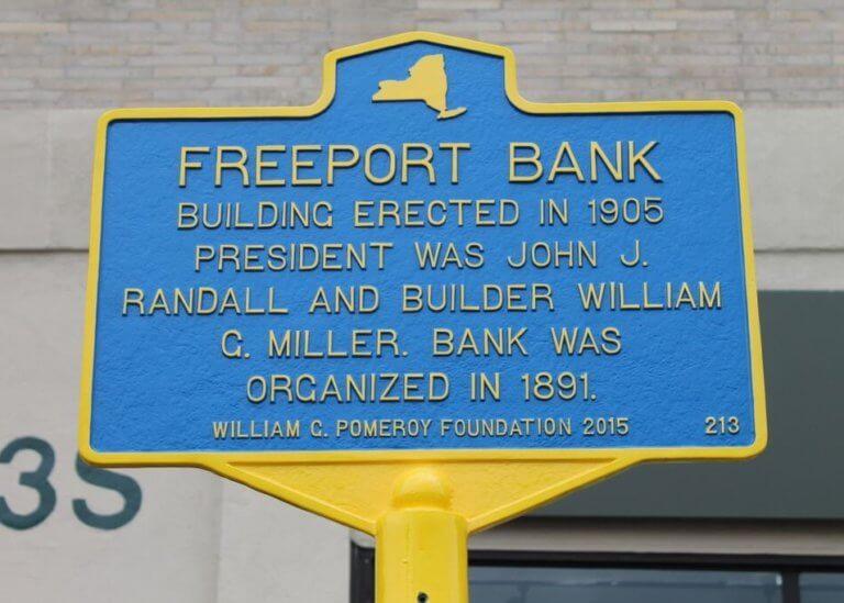Freeport Bank marker