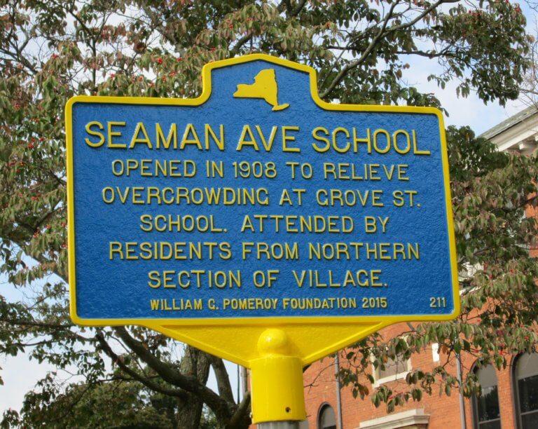 Seaman Avenue School marker