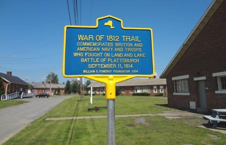 War of 1812 trail marker
