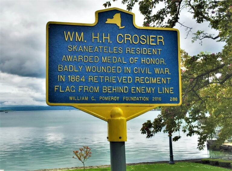 A marker for the William Crosier historical location