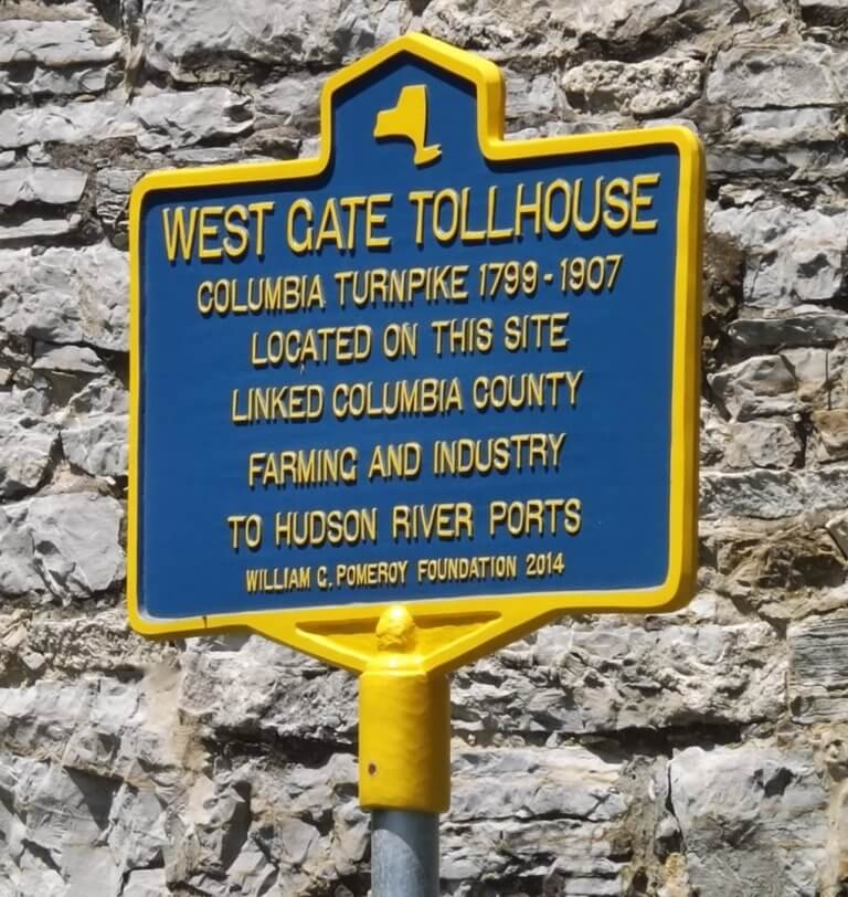 west gate tollhouse marker