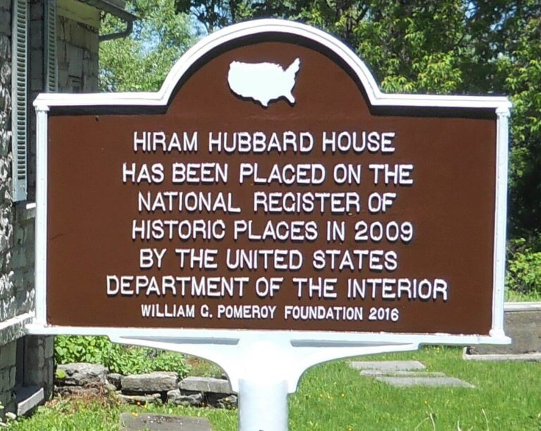 The Hiram Hubbard House Memorial Marker