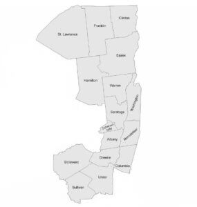 Regions 4 through 6 in New York State