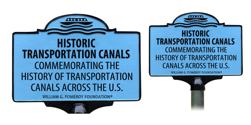 Historic Transportation Canals Marker Program Signage