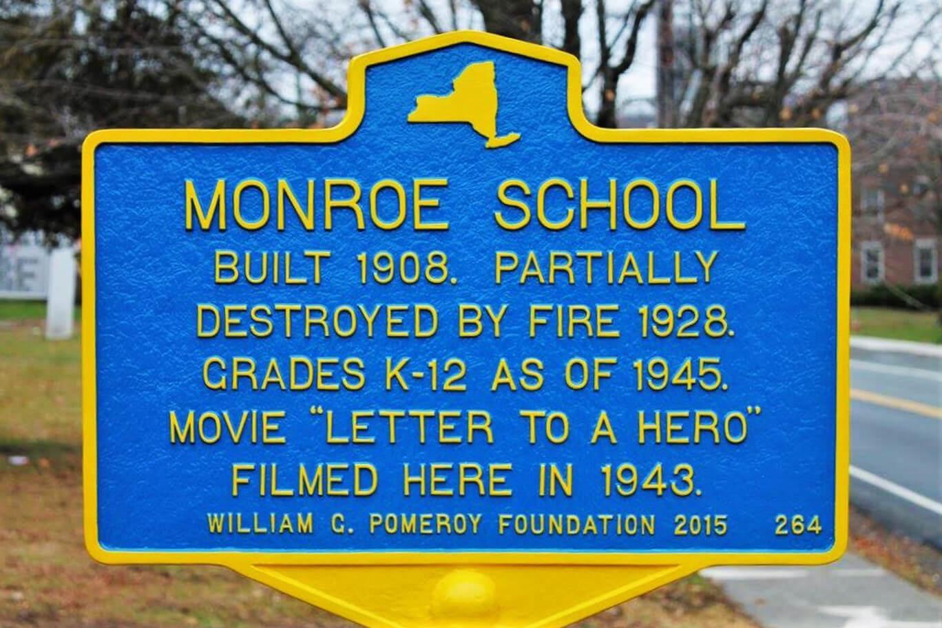 Monroe School historic marker
